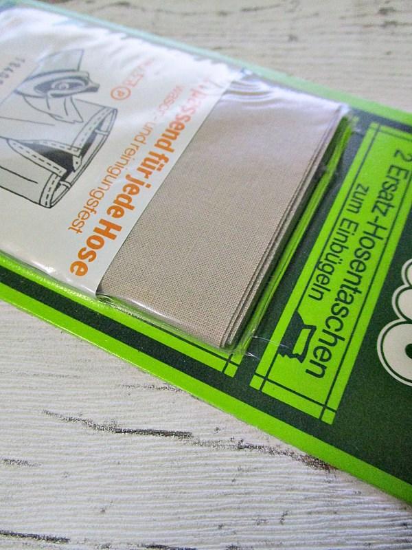 Ersatz-Hosentaschen Einbügeln 2Stück beige Baumwolle - Woolnerd