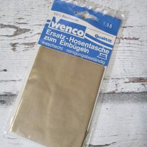 Ersatz-Hosentaschen Einbügeln beige Wenco - Woolnerd