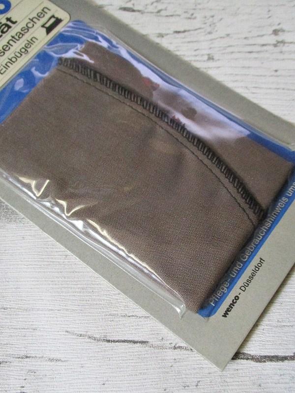 Ersatzhosentaschen Einbügeln braun Wenco - Woolnerd