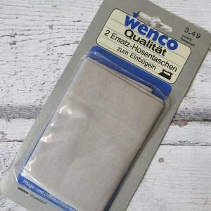 Ersatzhosentaschen Einbügeln silbergrau Wenco - Woolnerd