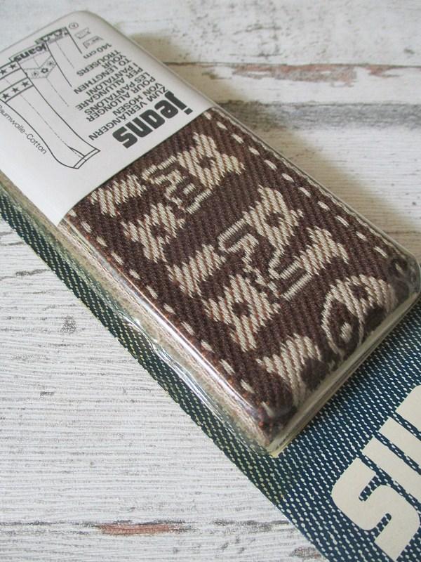 Jeansborte Baumwolle Vintage 70er braun beige JEANS - Woolnerd