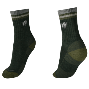 woolrior merino hiking socks -dark-green