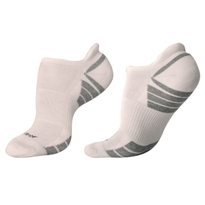 woolrior merino running socks white grey