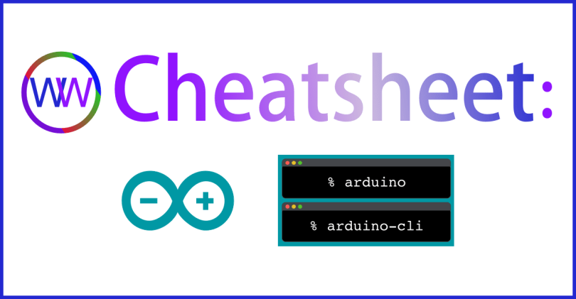 Arduino Command Line Cheatsheet Graphic