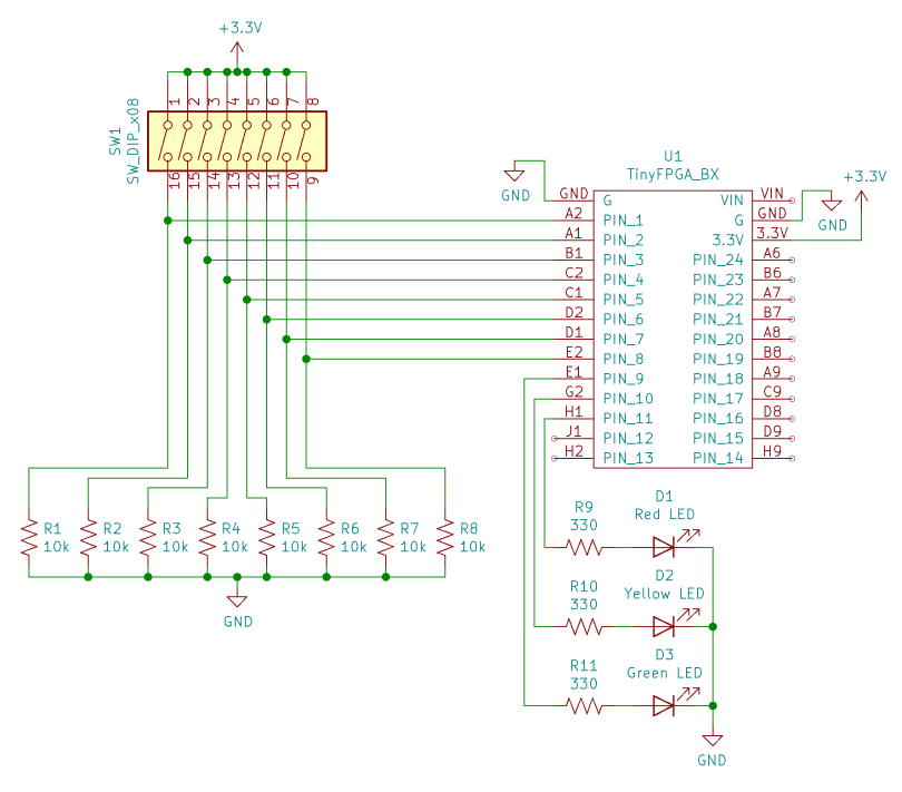 Schematic Diagram Of TinyFPGA Based Comparator Circuit
