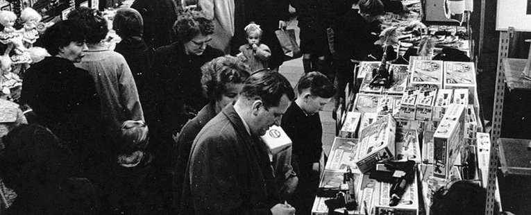 Toys And Games Displays At Woolworths In The Fifties