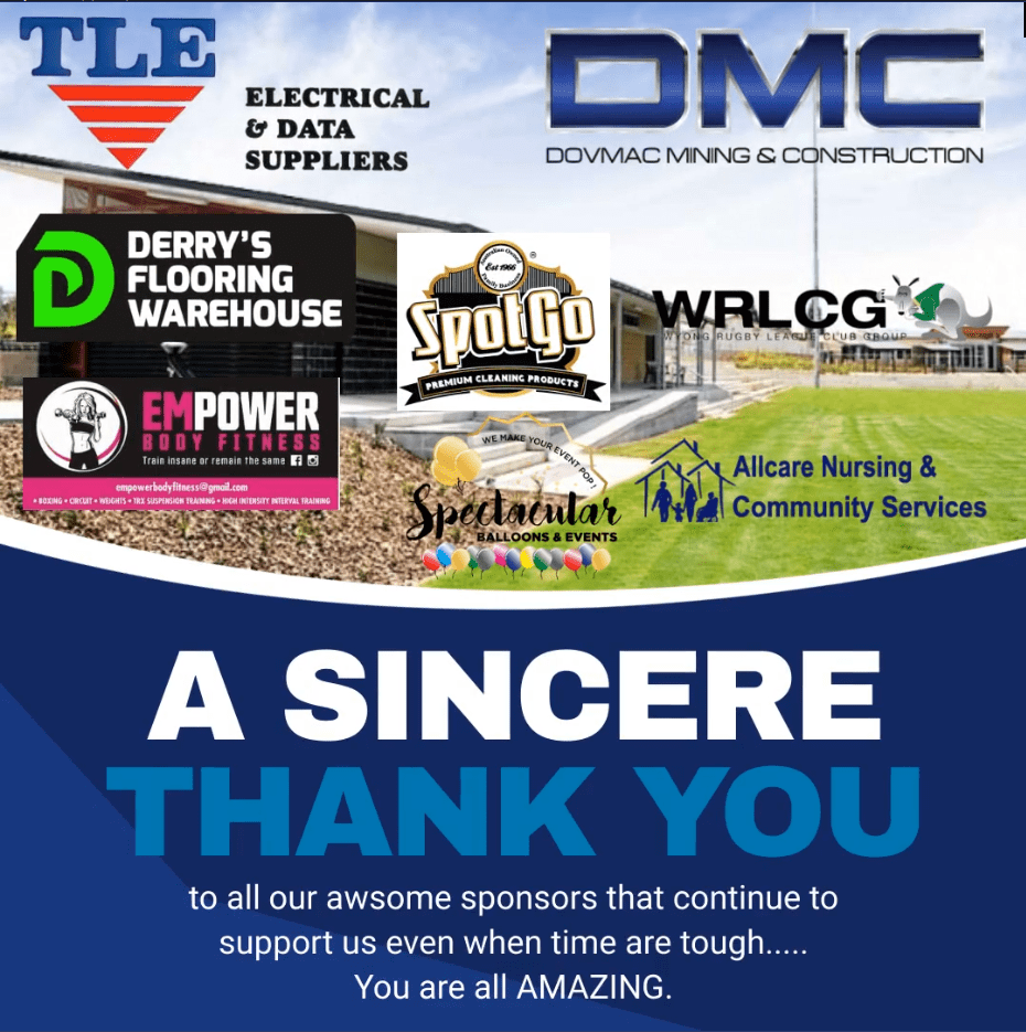 Huge Thank You to our Sponsors