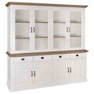 Buffetkast oakdale 2x4-deurs 4-laden (Ral 9010)