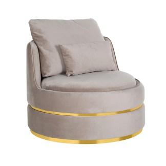 Fauteuil Kylie Khaki velvet / gold (Quartz Khaki 903)