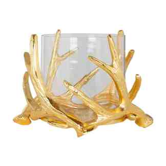 Hurricane Harvey gold with antler small (Goud)
