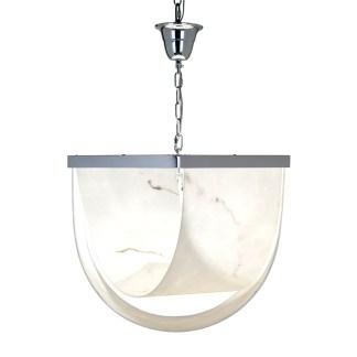 Hanglamp Colbey marmer look (Zilver)