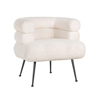 Fauteuil Amelia White Faux Sheep / Black (Faux Sheep 313-2)