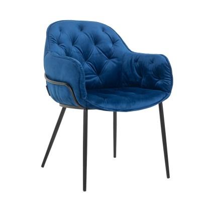Stoel Nomi Blue Velvet (Quartz Blue 611)