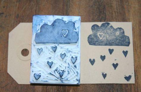 de hartjes regen voor Valentijnsdag