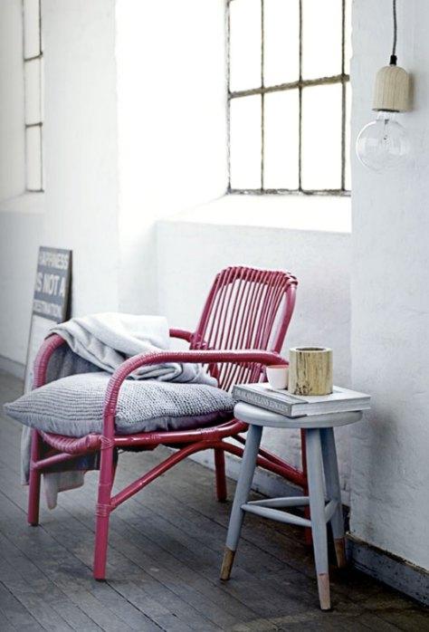 roze stoel van Bloomingville