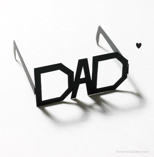 een leuke bril voor vaderdag via my printables