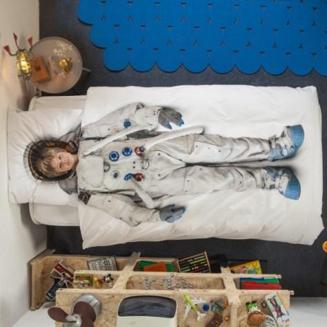 snurk dekbedovertrek de astronaut