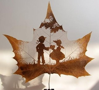 een mooi herfstblad via pinterest