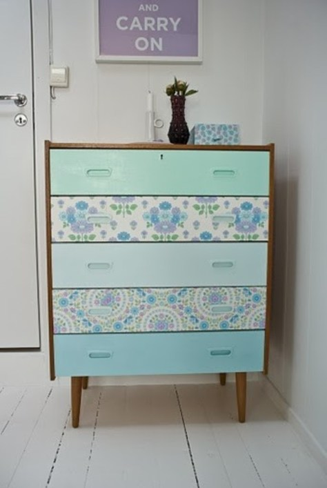 knap je meubel op met bv behang idee via welke