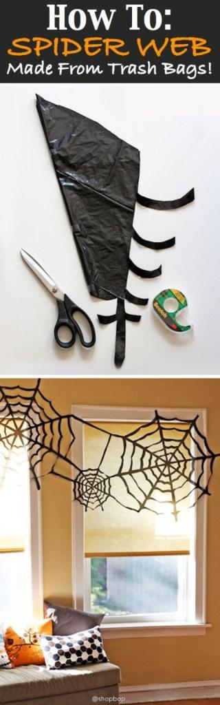 eenvoudige manier voor grote spinnenwebben aan de deur... via weibo