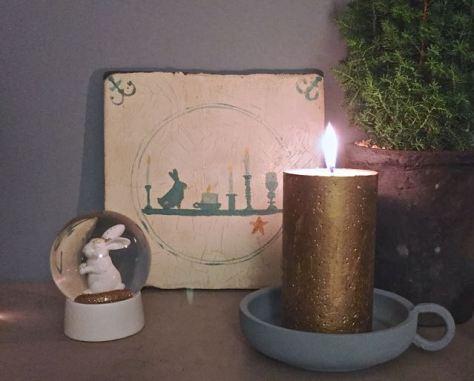 een DIY idee voor een oud Hollands kerst tegeltje