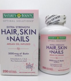 Hair, Skin & Nails 5000 mcg Of Biotin With Antioxidants A, C & E Plus Hyaluronic Acid