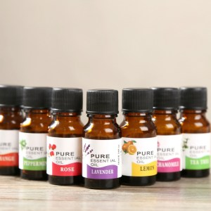 Natural Organic Plant Flowers & Lavender Therapeutic Essential Oil & Body Massage Relax Moisturizing