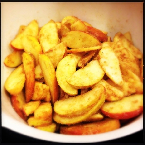 Apples, cinnamon and spices