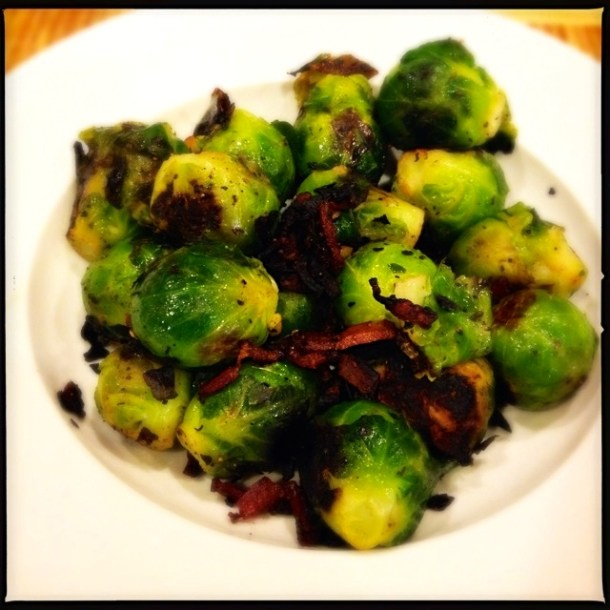 Charred Brussels Sprouts with Bacon