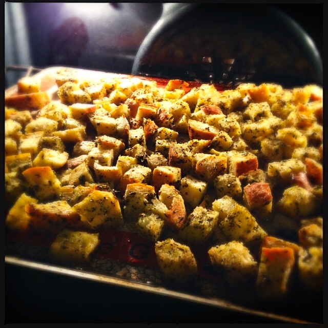Cooking Croutons