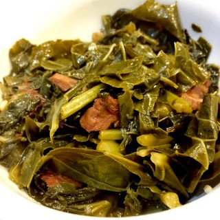 Southern Collard Greens with Bacon and Onions