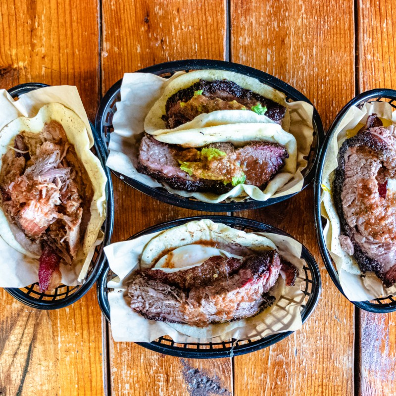 Austin's Valentina's Tex Mex BBQ is the King of the World When it Comes to Brisket Tacos