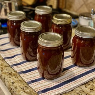 Bottles of Homemade Barbecue Sauce