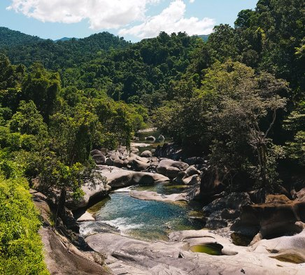 babinda boulders tour with wooroonooran safaris cairns waterfall tour