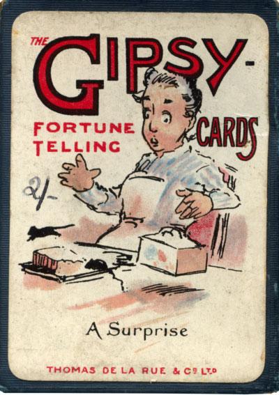 """Caja de las tarjetas de adivinación """"Gipsy"""" publicadas por Thomas de la Rue y Co Ltd., c.1910"""