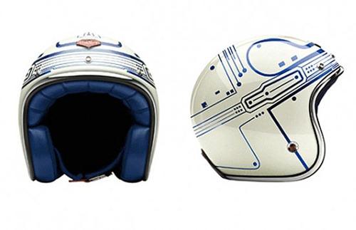 Casco motocicletas estilo Tron Legacy