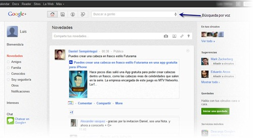 Google plus extension Slinky G