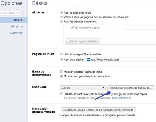 búsquedas en Google  desde Chrome 2
