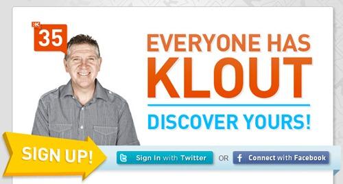 Importancia de Klout en Twitter