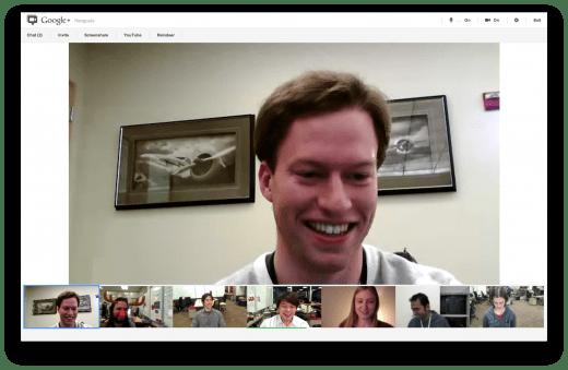 Hangouts con Screensharing