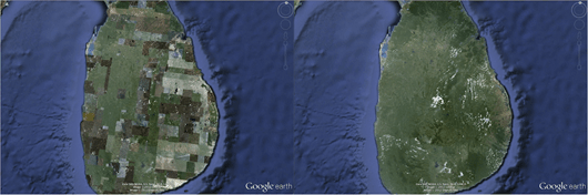 Sri Lanka Google Earth