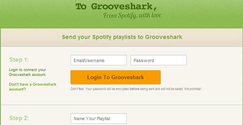 To grooveshark