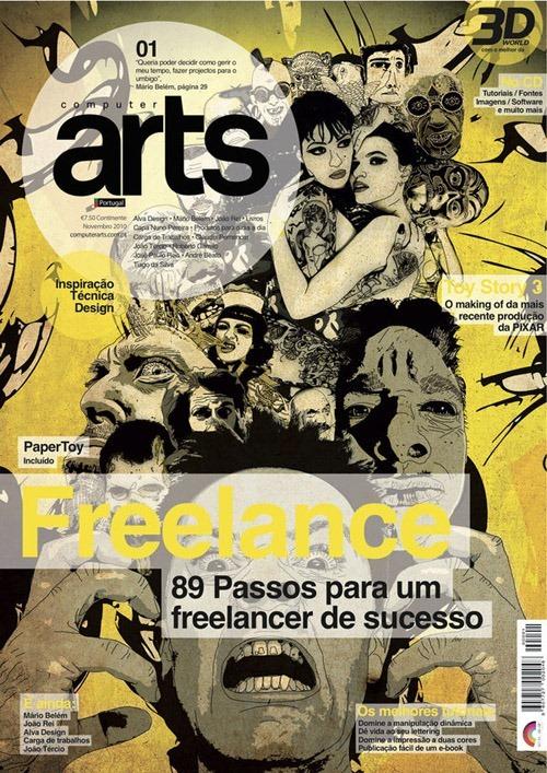 Portada de revista computer-arts-portugal
