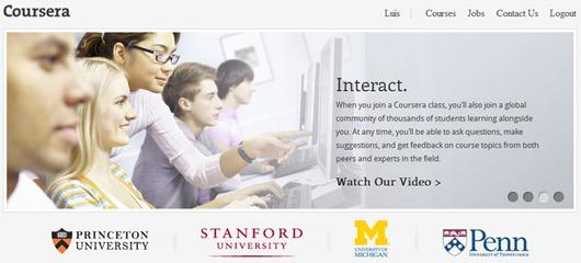 Coursera cursos online free de universidades