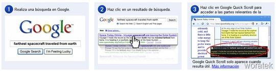 Google Quick Scroll extensión
