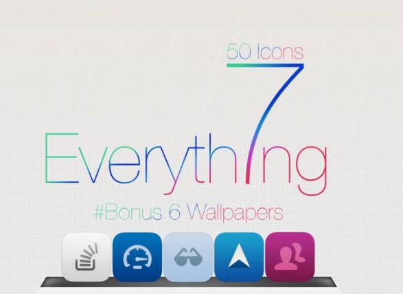 50  iconos de iOS 7