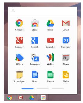 Lanzador de aplicaciones Google Chrome desde barra de tareas