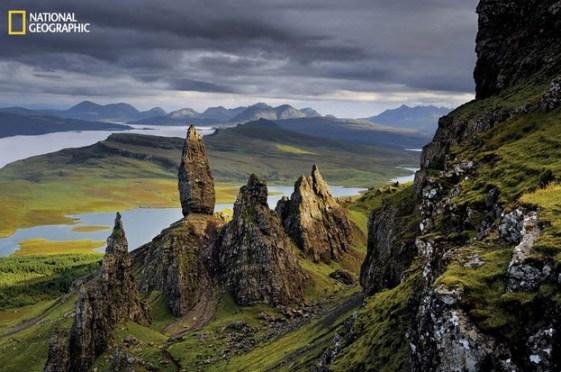 Península Trotternish de Skye, levantamiento geológico
