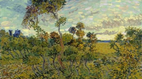 Pintura de Van Gogh Sunset at Montmajour