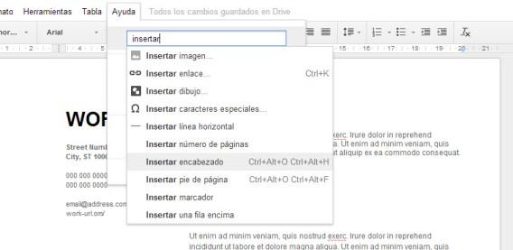 Métodos abreviados de teclado Google Drive